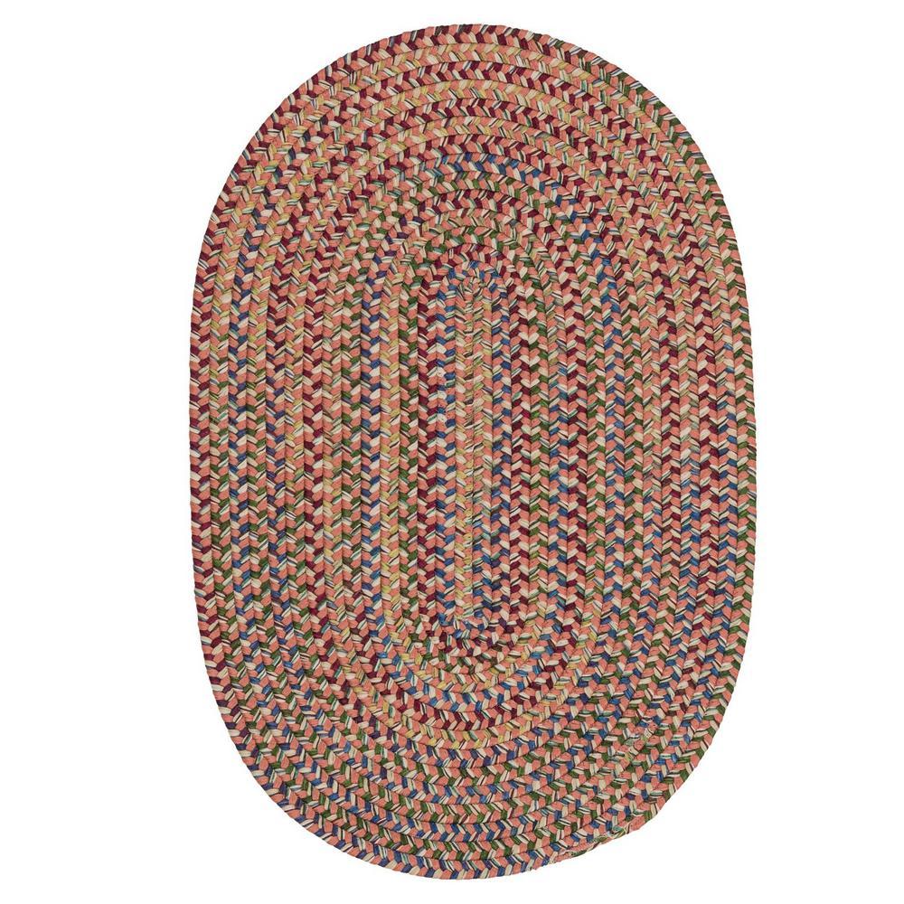 Millwork Terracotta 12 ft. x 15 ft. Tweed Indoor Oval Area Rug