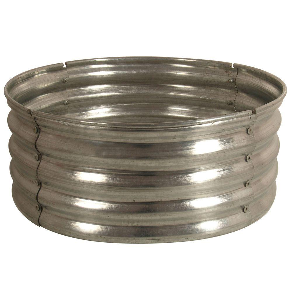 Unbranded 30 In Round Galvanized Steel Fire Pit Ring Ds 18727 The Home Depot