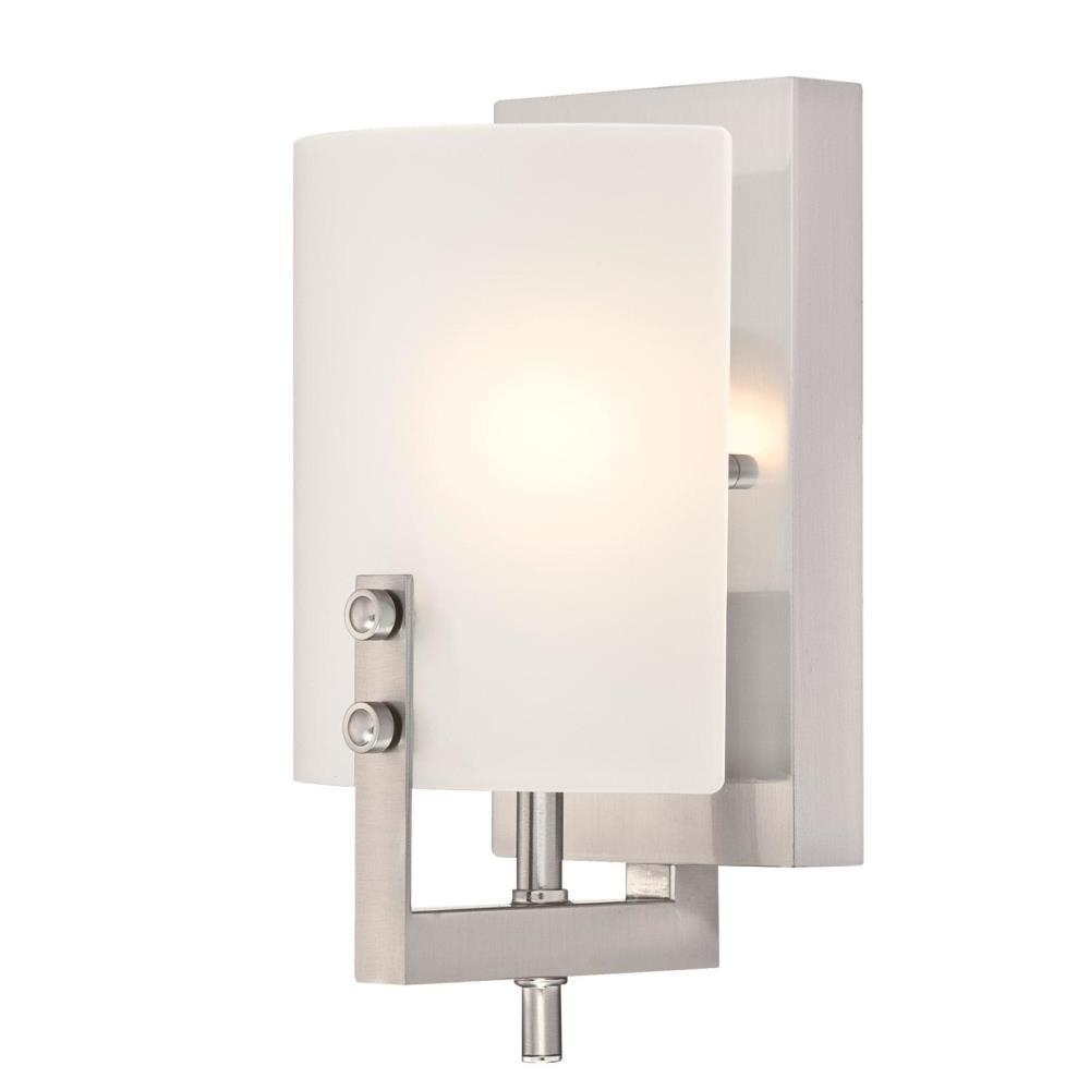 Westinghouse Enzo James 1-Light Brushed Nickel Wall Mount Sconce