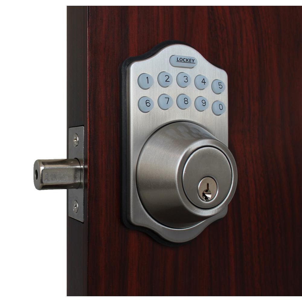 E-Digital E-910 Satin Nickel Single Cylinder Electronic Keypad Deadbolt