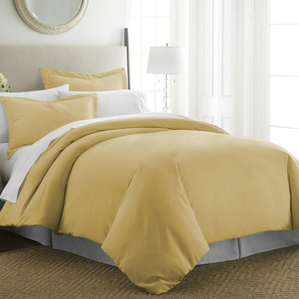 Performance Gold Queen 3-Piece Duvet Cover Set