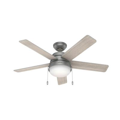 Tarrant 46 in. LED Indoor Matte Silver Ceiling Fan with Light
