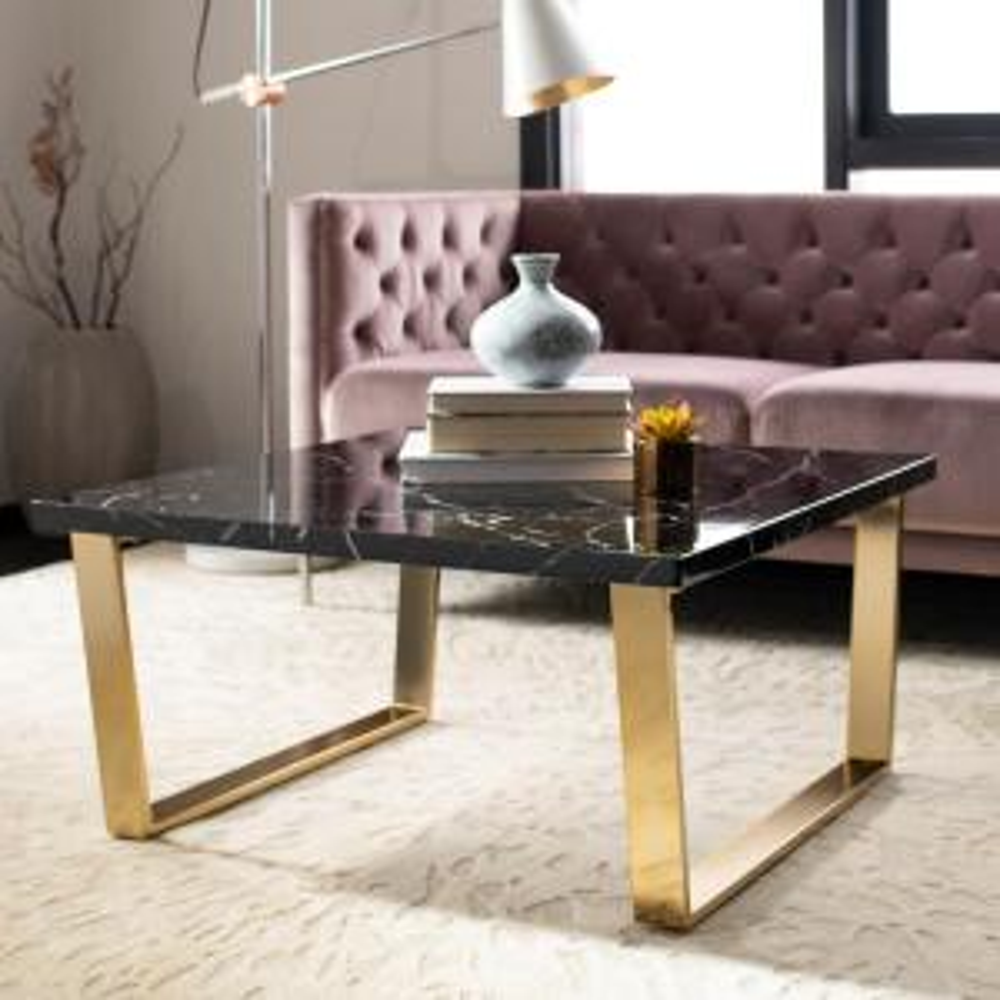 Safavieh Carmen Black Marblechrome Coffee Table Cof6201b The Home