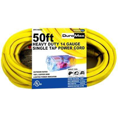 XPC14050A 50 ft. 14/3 Gauge Single Tap Extension Power Cord