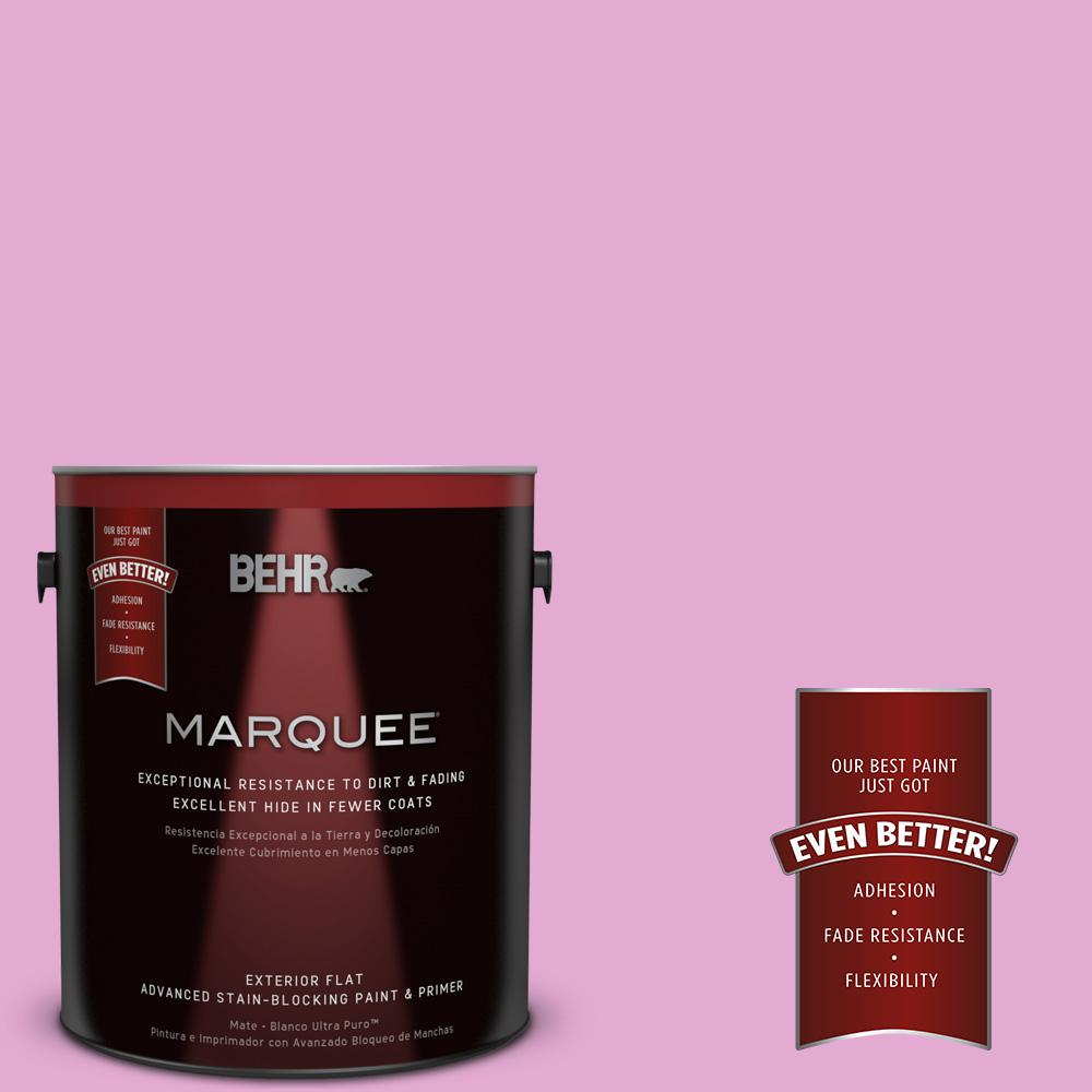 BEHR MARQUEE 1-gal. #680A-3 Pink Bliss Flat Exterior Paint