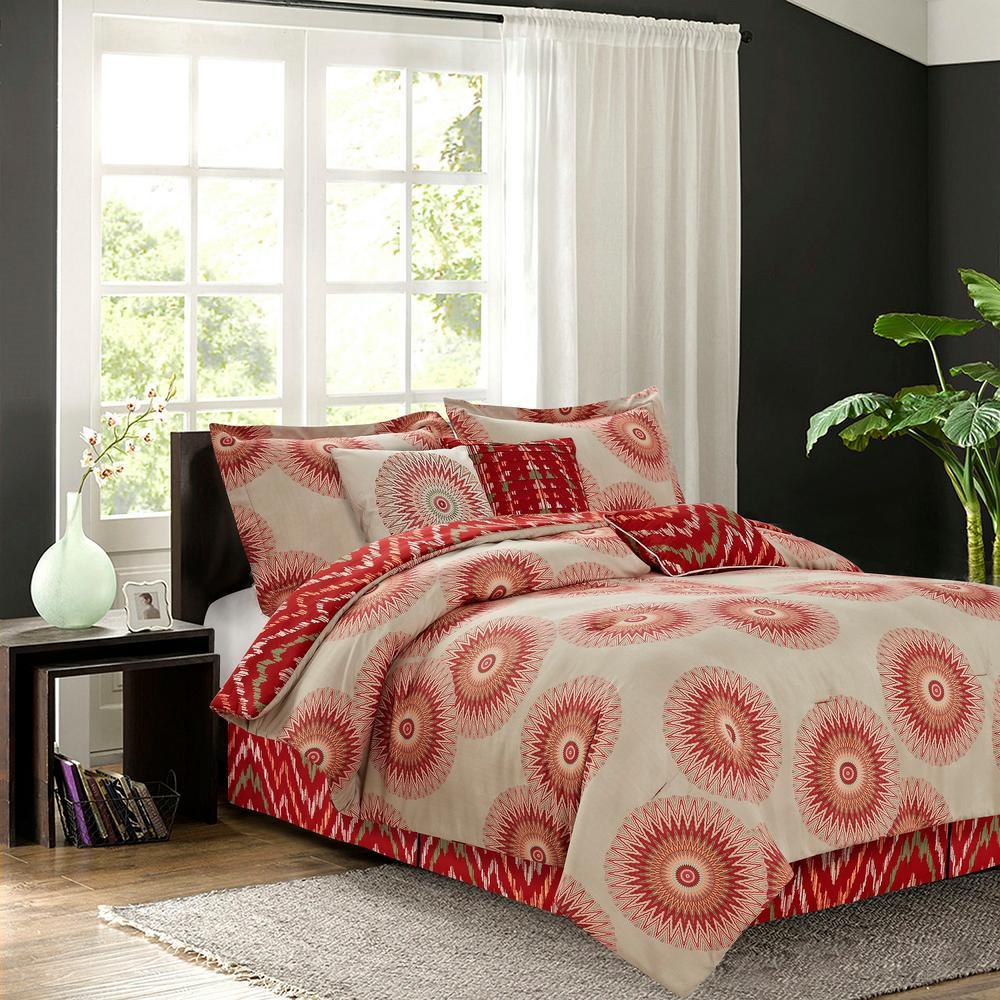 Marrakesh Spice 7-Piece Queen Comforter Set by