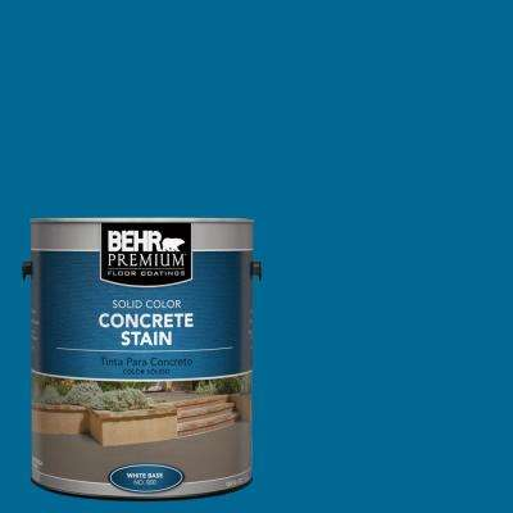 1 gal. #OSHA-1 OSHA SAFETY BLUE Solid Color Interior/Exterior Concrete Stain