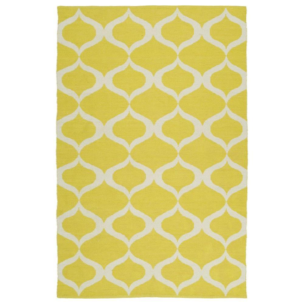 Brisa Yellow 5 ft. x 8 ft. Indoor/Outdoor Reversible Area Rug