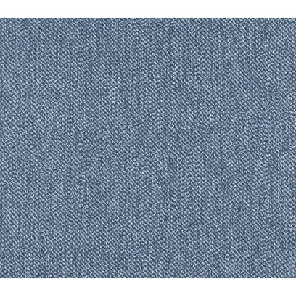 The Wallpaper Company 8 in. x 10 in. Blue Denim Sidewall Wallpaper Sample