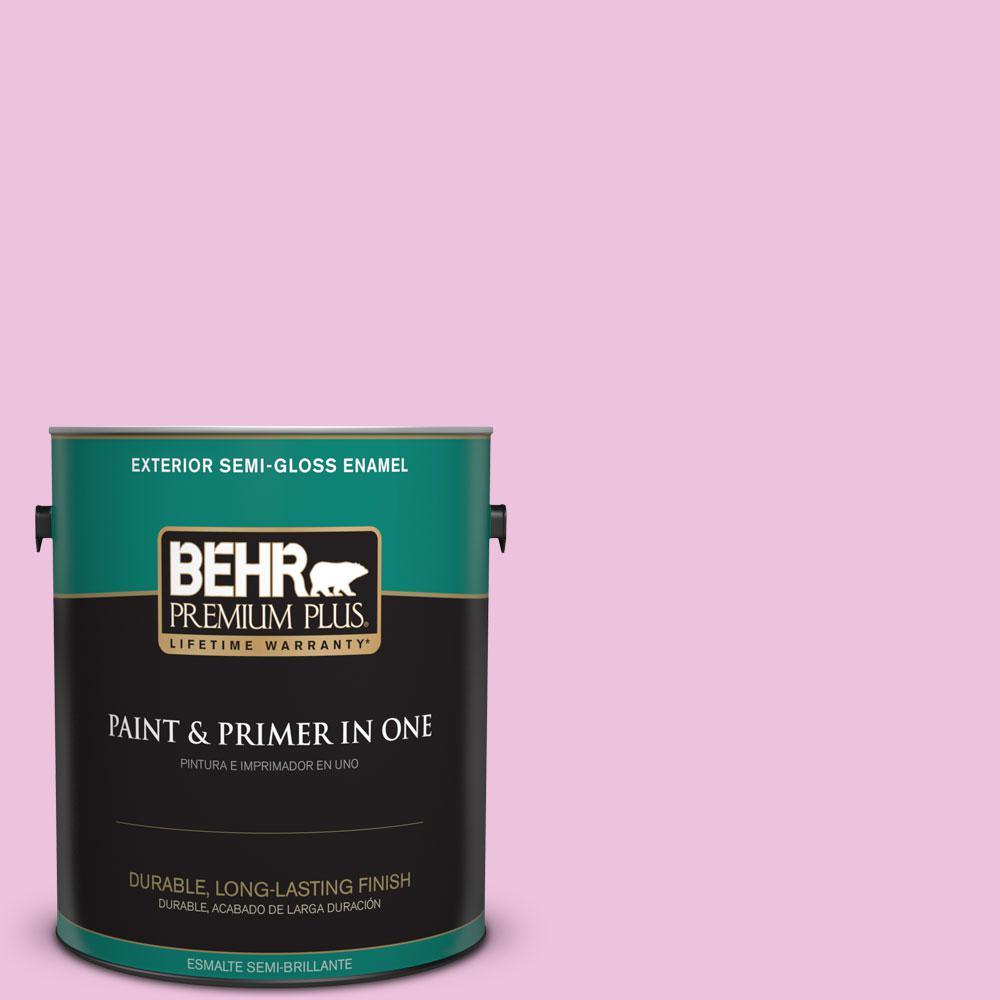 BEHR Premium Plus 1-gal. #P120-1 Starlet Pink Semi-Gloss Enamel ...