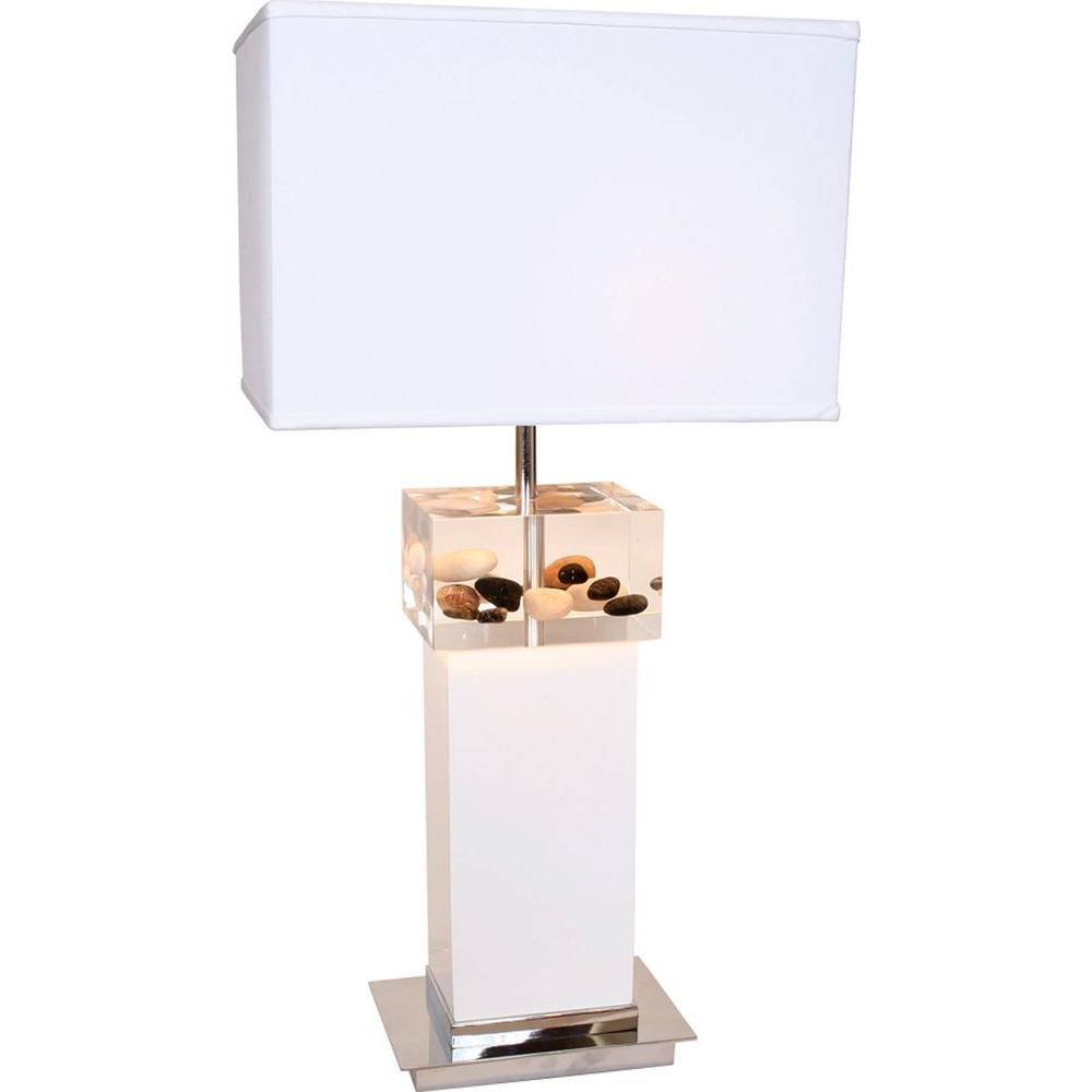 Filament Design Century 31 in. Chrome and White Table Lamp