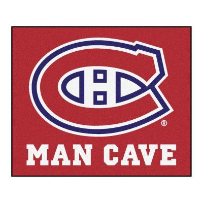 Montreal Canadiens Red Man Cave 5 ft. x 6 ft. Area Rug