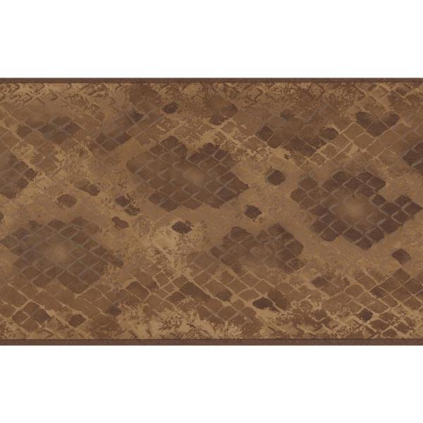 Brown Beige Abstract Prepasted Wallpaper Border
