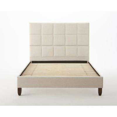 Hayley Taupe Queen Upholstered Bed