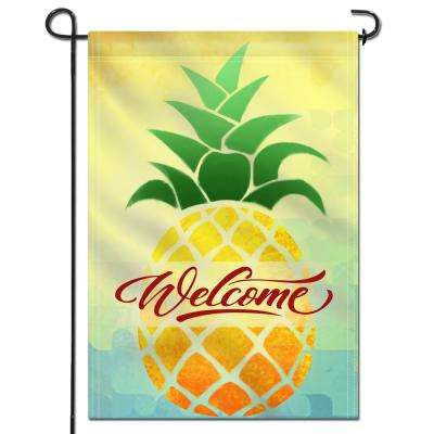 18 in. x 12.5 in. Double Sided Garden Flag Cartoon Pineapple Welcome Decorative Spring Summer Garden Flags