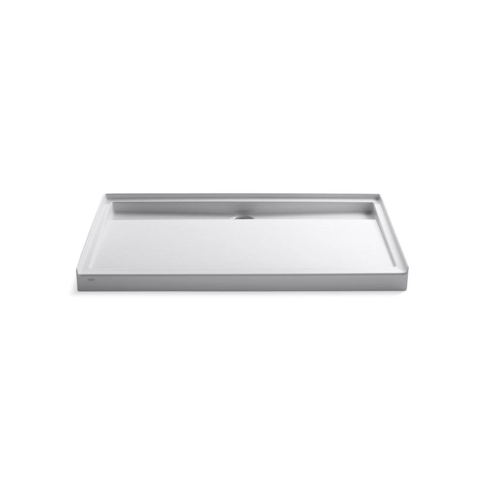 KOHLER Groove 60 in x 36 in Acrylic Shower Base in White