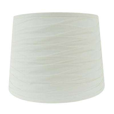 15 in. W x 11 in. H W White Pleated Hardback Empire Lamp Shade