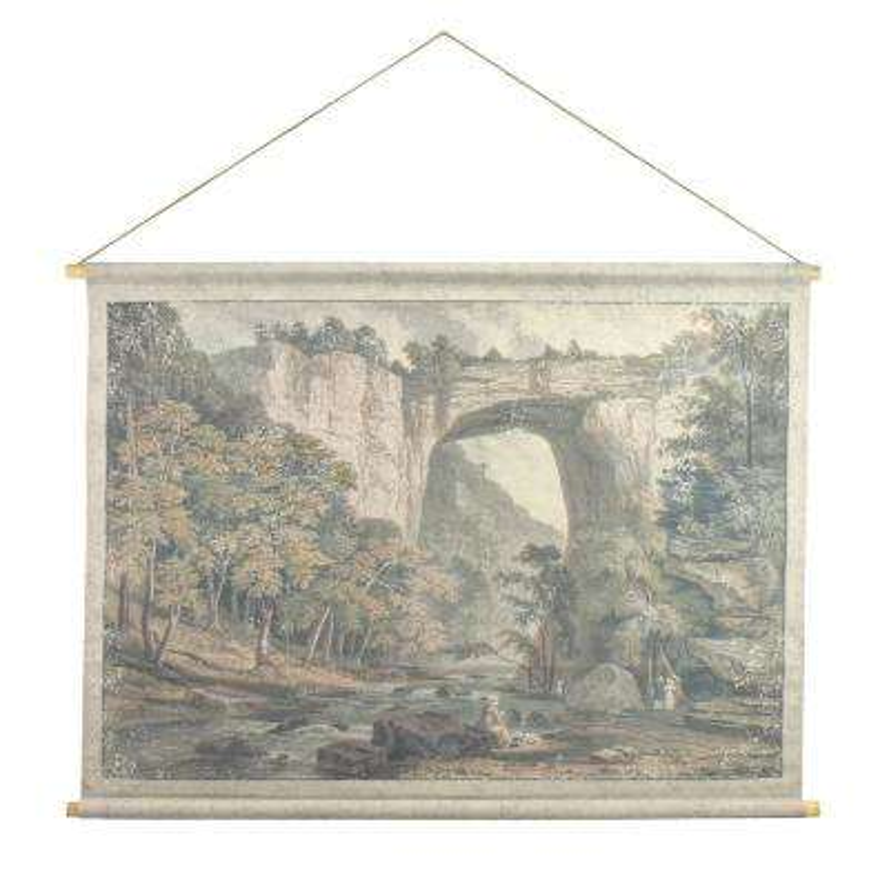 Natural Bridge Hanging Linen Tapestry