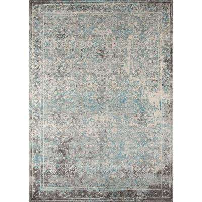 Luxe Turquoise 9 ft. x 13 ft. Indoor Area Rug