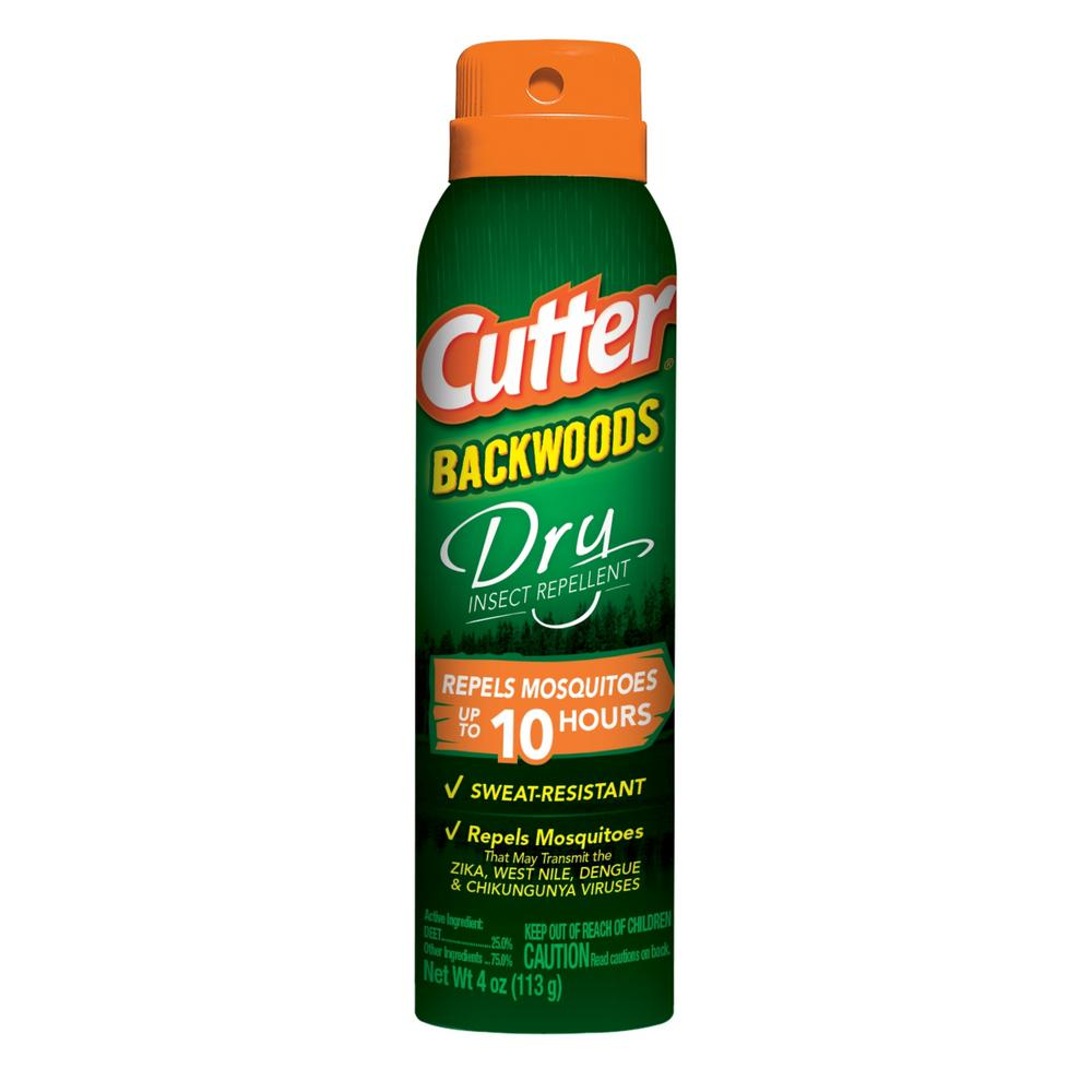 Cutter 4 Oz Backwoods Dry Mosquito And Insect Repellent Hg 96248