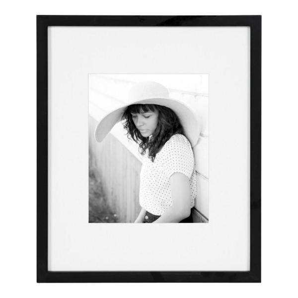 Gallery 13 in. x 16 in. matted to 8 in. x 10 in. Black Picture Frame
