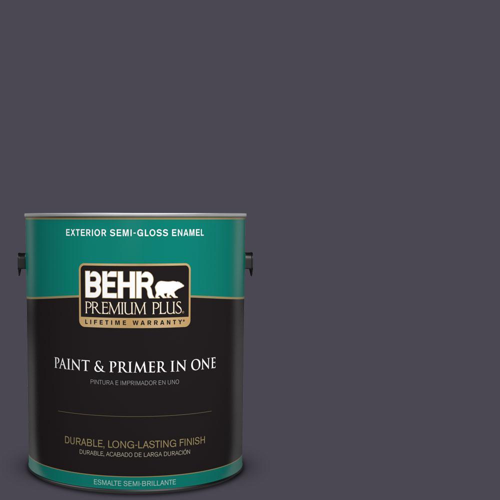 BEHR Premium Plus 1-gal. #N560-7 Limoscene Semi-Gloss Enamel Exterior Paint
