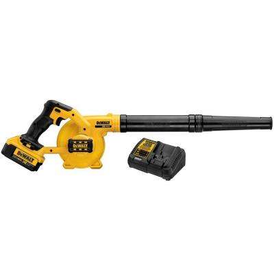 135 MPH 100 CFM 20-Volt MAX Lithium-Ion Cordless Blower Kit with Battery 4Ah and Charger