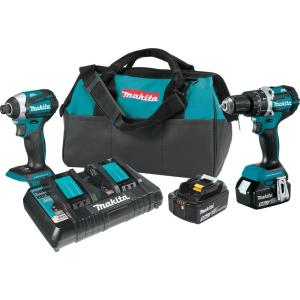 Makita 18-Volt 5.0Ah LXT Lithium-Ion Brushless Cordless 2-Piece Combo Kit (Hammer... by Makita