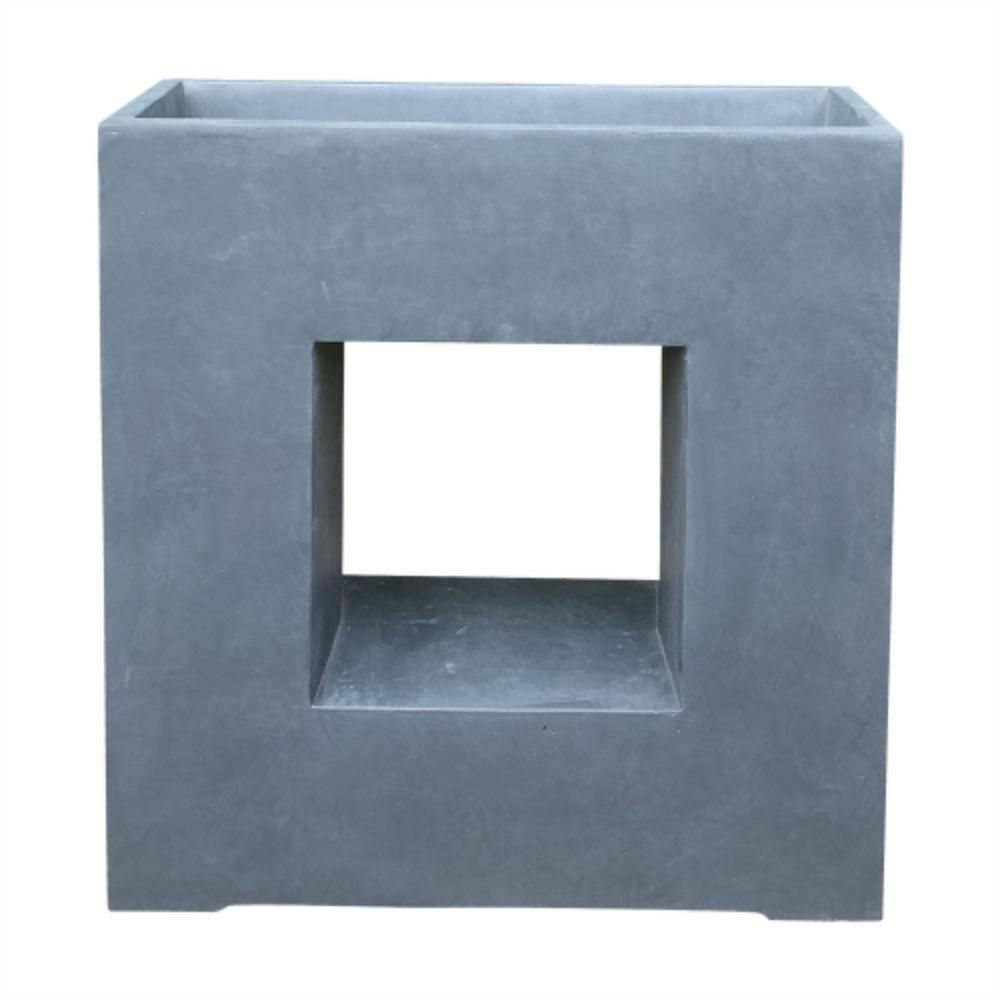 DurX-litecrete 27 in. x 11 in. x 27.4 in. Granite Lightweight Concrete Slate Granite Window Square Box Planter
