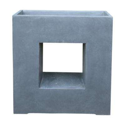 27 in. x 11 in. x 27.4 in. Granite Lightweight Concrete Slate Granite Window Square Box Planter