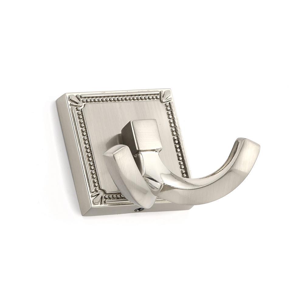 2-1/4 in. (57 mm) Brushed Nickel Decorative Hook