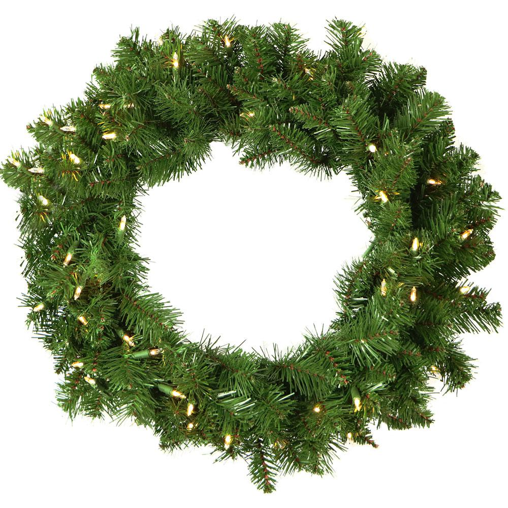 2 ft. Colorado Fir Artificial Holiday Wreath with Battery-Operated Warm LED