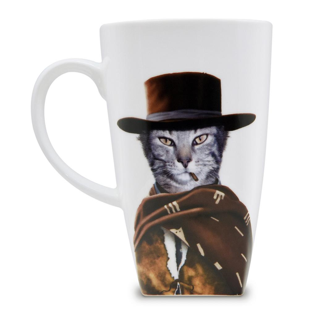 20 oz.  Western  Pets Rock Collectible Fine Bone China Mug, Western These Pets Rock fine bone china coffee mugs give you the option to see the adorable pets you love dressed as celebrities on your mugs. Available with a variety of furry creatures to fit any animal lovers desires. What better way to start your morning than with a cup of Joe and your adorable Pets Rock buddy. The porcelain is milky white in color, beautiful in shape and comfortable in your hand. Color: Western.