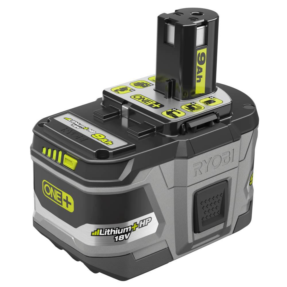 Ryobi 18 Volt One Lithium Ion 9 0 Ah Hp High Capacity Battery