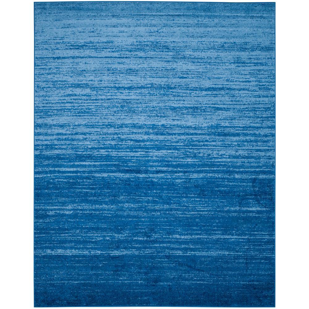 Adirondack Light Blue/Dark Blue 9 ft. x 12 ft. Area Rug
