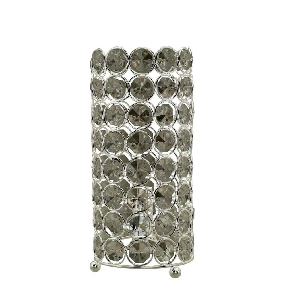 FANGIO 11 in. Clear Acrylic and Polished Nickel Contempor...