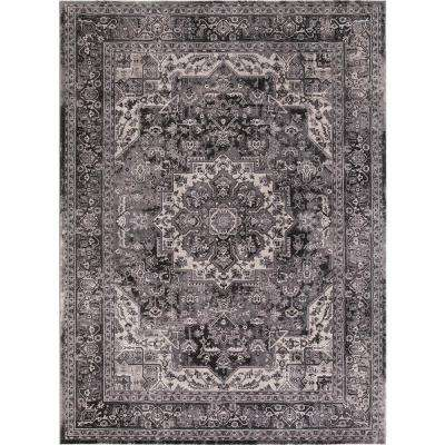 Kashan Heriz Anthracite 7 ft. x 9 ft. Area Rug