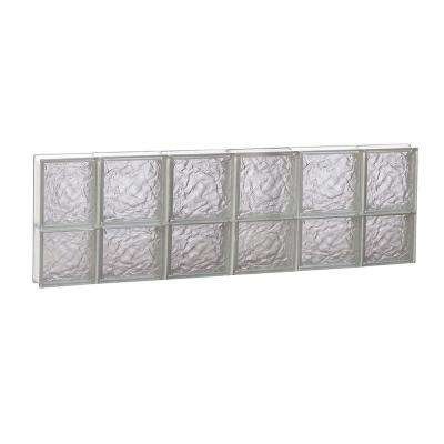 42.5 in. x 13.5 in. x 3.125 in. Non-Ice Pattern Vented Glass Block Window