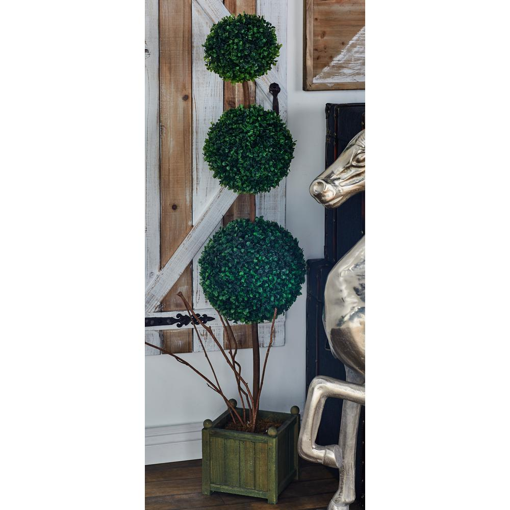 Green Trueshire Potted Artificial Topiary