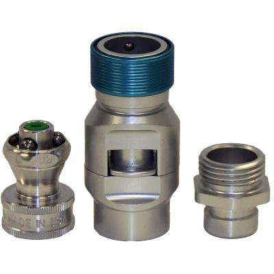 FLO 3/4 in. Pro-Series Quick-Connect Shut-Off Valve with Male Adaptor and Nozzle