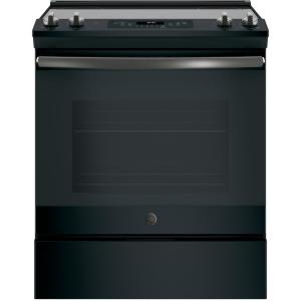 30 in. 5.3 cu. ft. Slide-In Electric Range with Self-Cleaning Oven in Black Slate, Fingerprint Resistant
