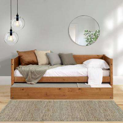Mid-Century Castanho Twin Size Daybed with Twin Size Trundle Bed
