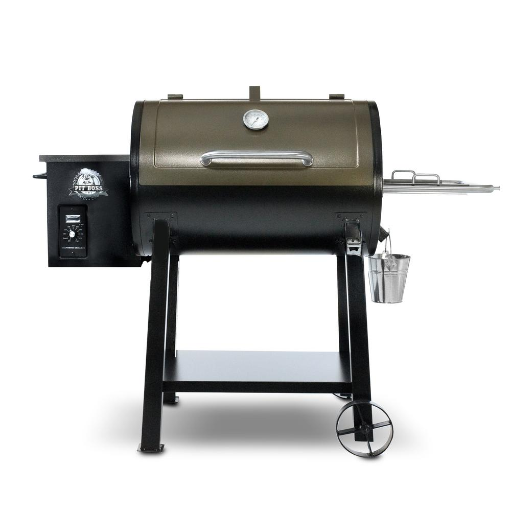 Pit Boss 440 Deluxe Pellet Grill - Black and Copper-72440 - The Home ...