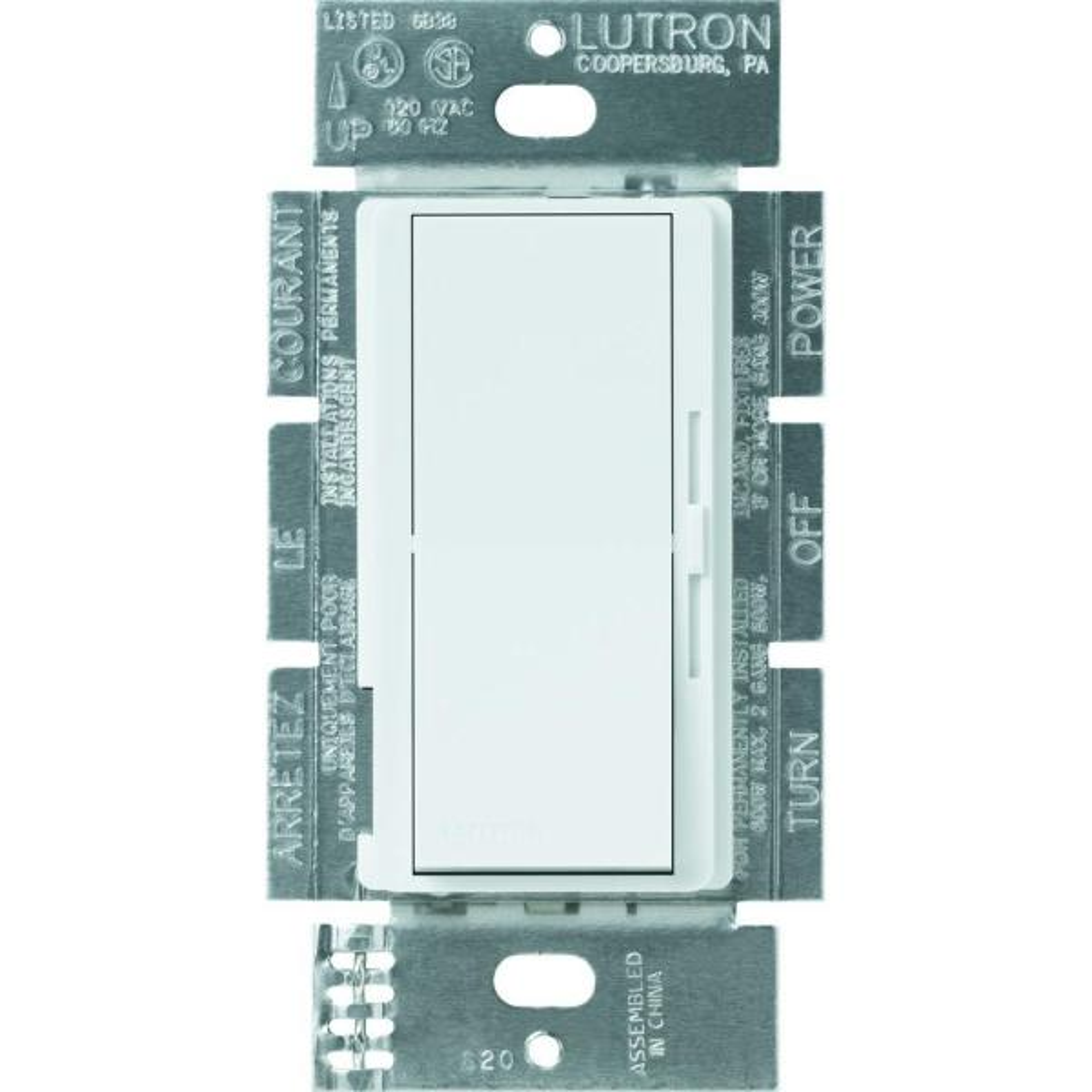 Diva Electronic Low Voltage Dimmer, 300-Watt, Single-Pole, White
