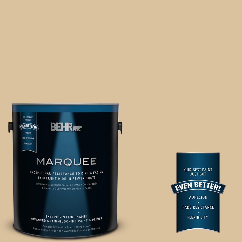 BEHR MARQUEE 1-gal. #S310-3 Natural Twine Satin Enamel Exterior Paint