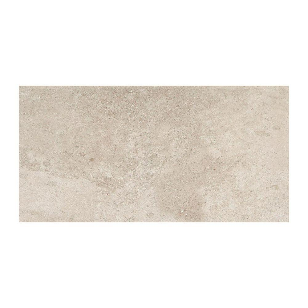 Authentica Fog 12 in. x 24 in. Glazed Porcelain Floor and