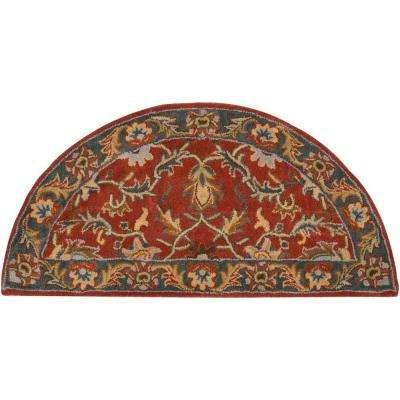 John Rust Red 2 ft. x 4 ft. Area Rug