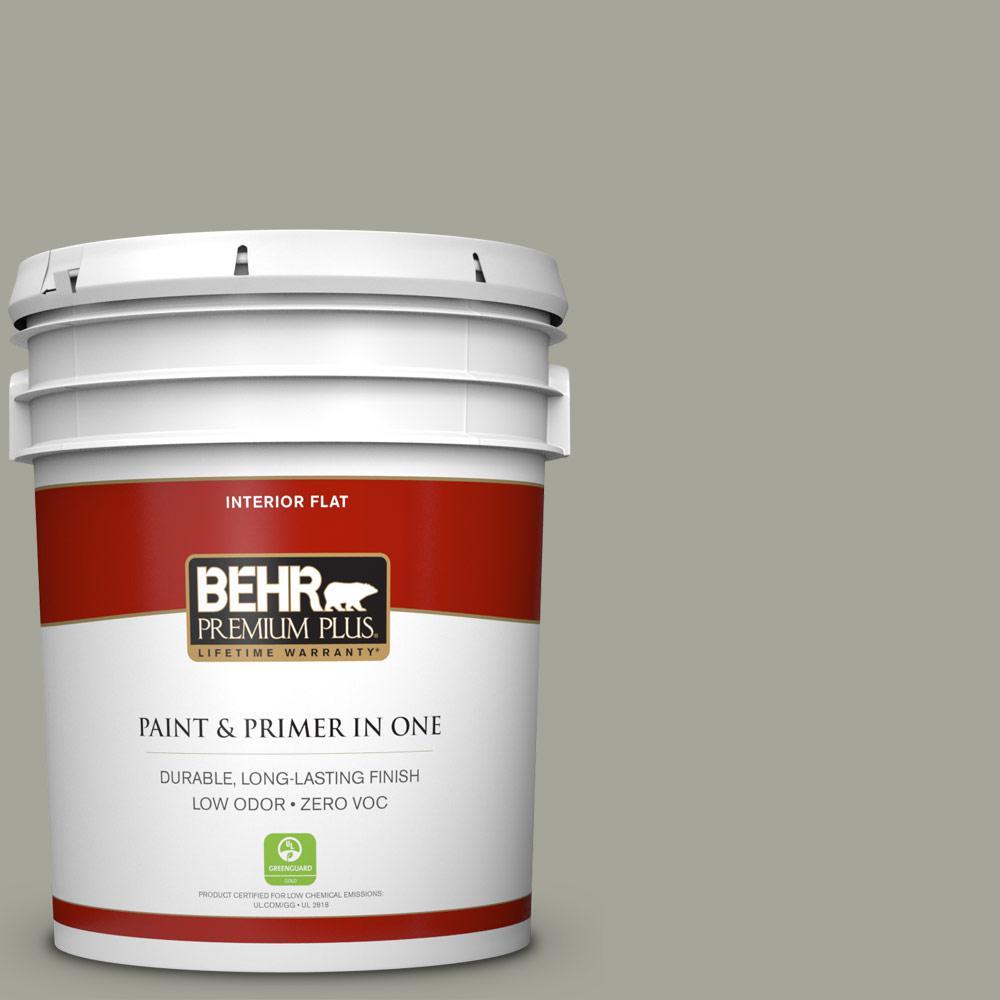 BEHR Premium Plus 5-gal. #N370-4 Confederate Flat Interior Paint
