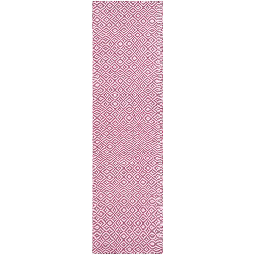 Couristan Cottages Manhasset Pink 2 ft. 3 in. x 8 ft. Indoor/Outdoor Runner Rug Couristan Cottages Manhasset Pink 2 ft. 3 in. x 8 ft. Indoor/Outdoor Runner Rug
