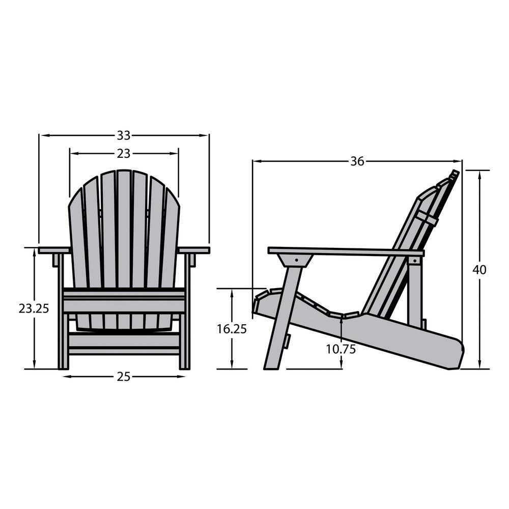 Highwood King Hamilton Nantucket Blue Folding and Reclining Recycled  Plastic Adirondack Chair